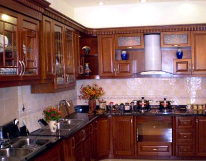 Tủ bếp gỗ Xoan đào Gia Lai 02