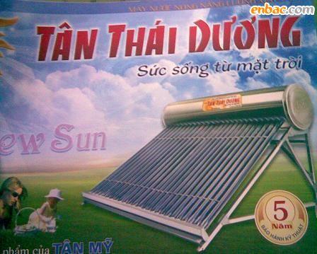 Giàn năng lượng mặt trời Tân mỹ 180L phi 58