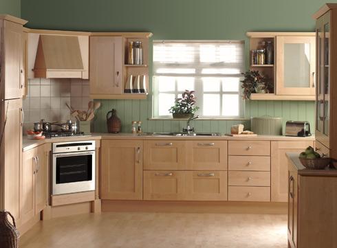 Tủ bếp gỗ sồi Nga 07