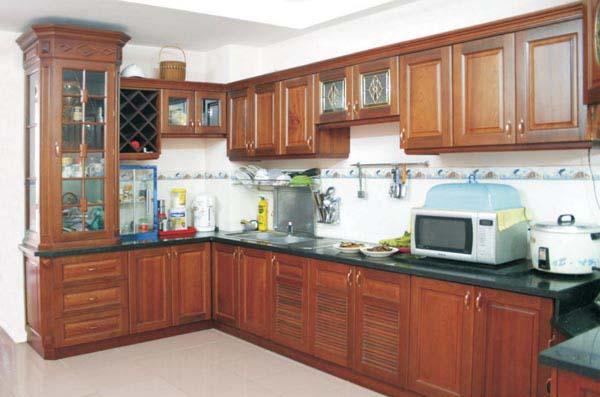 Tủ bếp gỗ Xoan đào Gia Lai 03